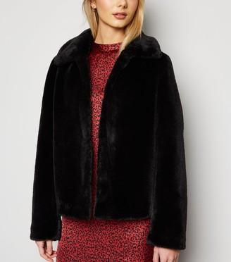 New Look Faux Fur Collared Coat