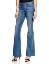 Free People Pull On Kick Flare Jeans in Blue Grass