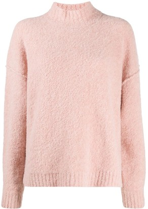 Masscob High Neck Knitted Jumper
