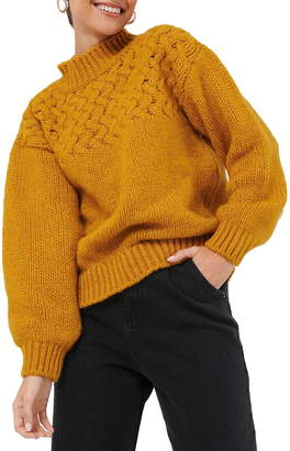NA-KD Cable Knit Mock Neck Sweater