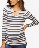 Motherhood Maternity Keyhole Scoop-Neck Sweater