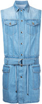 Balmain denim sleeveless trench - men - Cotton - S