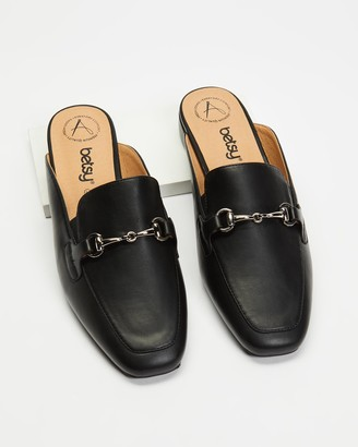 Betsy - Women's Black Brogues & Loafers - Horsebit Mules - Size 36 at The Iconic