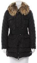 Moncler Safran Fur-Trimmed Coat