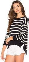 Autumn Cashmere Striped Hi Lo Sweater