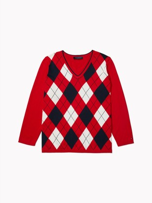 Tommy Hilfiger Essential Curve Argyle Stripe Sweater