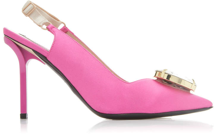 1327eb024c Pink Satin Pumps - ShopStyle