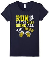 Funny Run All The Miles Drink All The Beer T-shirt Sports