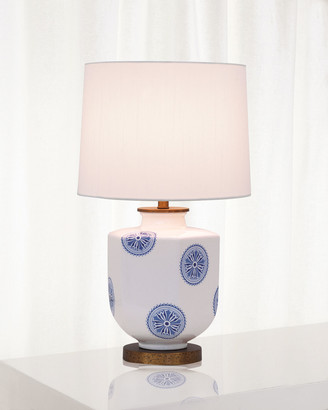 Port 68 Temba Table Lamp, Blue/White