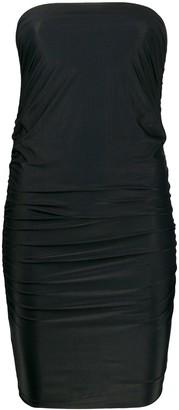 Pinko strapless ruched mini dress