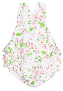 Angel Dear Girls' Cherry Blossom Cotton Printed Sunsuit - Baby