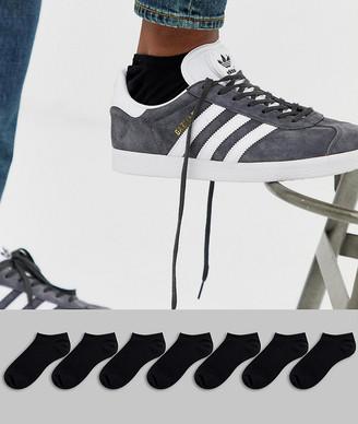 Asos Design DESIGN 7 pack sneaker sock in black save