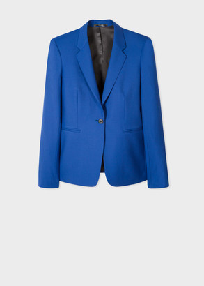 Paul Smith A Suit To Travel In - Women's Indigo One-Button Wool Blazer