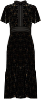 Rebecca Taylor Floral-print velvet dress