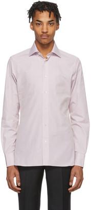 Ermenegildo Zegna White and Pink Camicia Trofeo Shirt