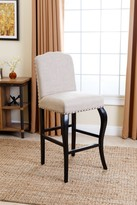 Natural Chloe Nailhead-trim Upholstered Barstool