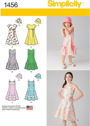 Simplicity Children's Dress Sewing Pattern, 1456