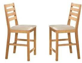 East West Furniture Cafe Pub Natural Oak Counter Height Stool