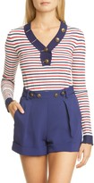 Philosophy di Lorenzo Serafini Stripe Rib Cotton Sweater