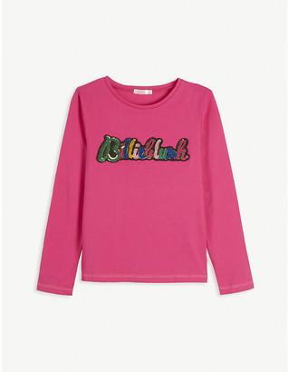 Billieblush Sequin long sleeve cotton T-Shirt 4-12 years