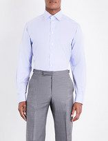 Eton Contemporary-fit double-cuff cotton-twill shirt