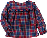 Osh Kosh Oshkosh Long Sleeve Plaid Top - Baby Girls