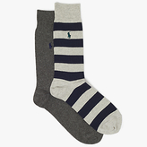 Polo Ralph Lauren Rugby Stripe And Plain Socks, One Size, Pack Of 2