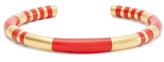 Aurelie Bidermann Positano Resin And 18kt Gold-plated Bracelet - Womens - Red