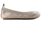 Yosi Samra Fawn Croco-Leather Sammie Ballet Flat