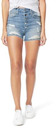 Joe's Jeans Kinsley Shorts Exposed Button Fly Fray Hem in Tulip (Tulip) Women's Shorts
