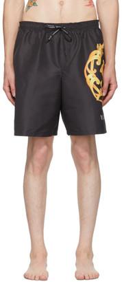 Versace Underwear Black Medusa Crest Swim Shorts