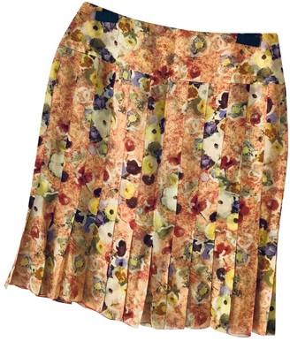 Chanel Orange Silk Skirt for Women Vintage