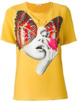 P.A.R.O.S.H. butterfly print T-shirt - women - Polyester/Spandex/Elastane - XS