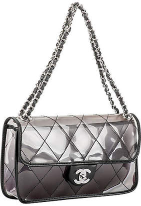 One Kings Lane Vintage Chanel PVC Flap with Leather Trim - Vintage Lux