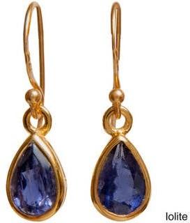 Sitara Collections Handmade Yellow Goldoverlay Gemstone Artisan Made Dangle Earrings