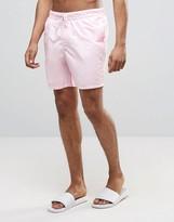Asos Swim Shorts In Light Pink Mid Length