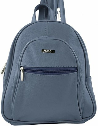 Lorenz Lambland Womens / Ladies Genuine Leather Backpack with Zipped Straps
