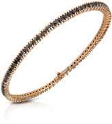 Forzieri Black Diamond Eternity 18K Gold Tennis Bracelet