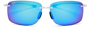 Maui Jim Unisex Hema Polarized Square Rimless Sunglasses, 62mm