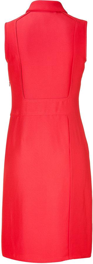 Derek Lam Coral Sleeveless Linen Inset Dress