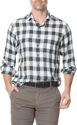 Rodd & Gunn City Block Regular Fit Check Linen Button-Up Shirt