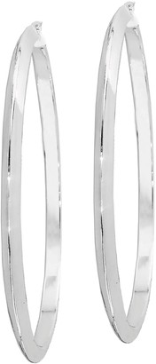 "Sterling Knife-Edge Polished 2-1/2"" Hoop Earrings"