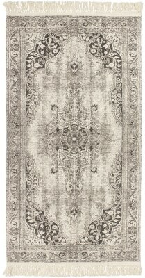 """French Connection Ruben Vegetable Dyed Cotton Gray Area Rug Rug Size: Rectangle 2'6"""" x 4'2"""""""