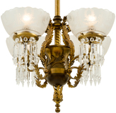 Rejuvenation Remarkable Early Electric Empire Chandelier