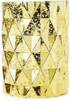 Pfaltzgraff Gold-Tone Prism Glass Hurricane Cylinder