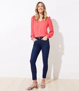 LOFT Petite Curvy Slim Pocket Skinny Crop Jeans in Dark Indigo