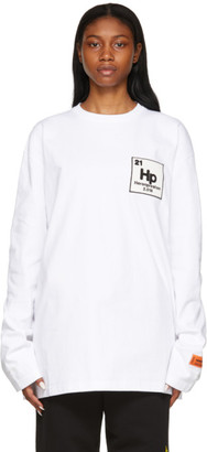 Heron Preston White Herons Halo Long Sleeve T-Shirt