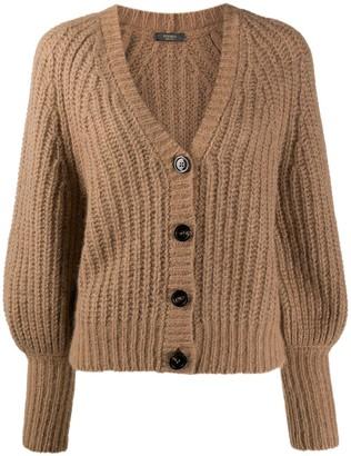 Peserico Bell Sleeve Chunky-Knit Cardigan