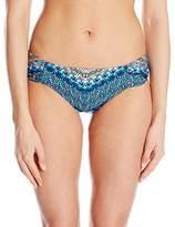 Lucky Brand Women's Nomad Chevron Reversibile Side Sash Hipster Bikini Bottom