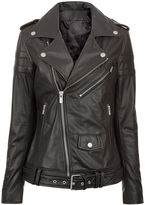 BLK DNM Black Leather Motorcycle Jacket